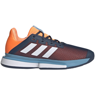 FX1733 adidas Men's Solematch Bounce M tennis shoe (Crew Navy/White/Screaming Orange)