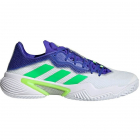 adidas Men's Barricade Tennis Shoes (White/Screaming Green/Sonic Ink) -