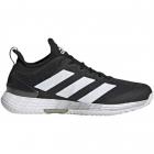 Adidas Men's Adizero Ubersonic 4 Tennis Shoes (Core Black/Flat White/Silver Metallic) -