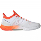Adidas Men's adizero Ubersonic 4 Tennis Shoes (White/Silver Metallic/Solar Red) -