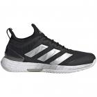 Adidas Women's Adizero Ubersonic 4 Tennis Shoes (Core Black/Silver Metallic/Cloud White) -