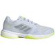 G55659 adidas Women's Stella McCartney Barricade Boost tennis shoe (Halo Blue/Silver Metallic/Solar Yellow) -