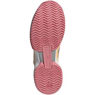 G55660.adidas Women's Stella McCartney Barricade Boost Tennis Shoe (Acid Orange / Silver Metallic / Hazy Rose)