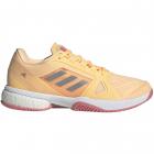 adidas Women's Stella McCartney Barricade Boost Tennis Shoe (Acid Orange / Silver Metallic / Hazy Rose) -