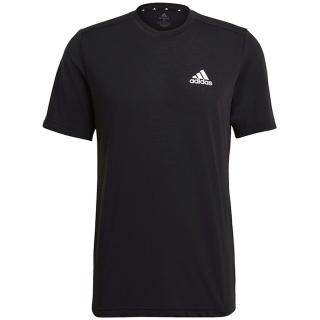 GT5545 Adidas Men's Feelready Tennis Tee (Black/White)