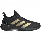 Adidas Women's Adizero Ubersonic 4 Tennis Shoes (Carbon/Gold Metallic/Core Black) -