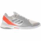 Adidas Women's Stella Court Tennis Shoes (White/Silver Metallic) -