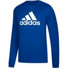 Adidas Men's Badge of Sport Long Sleeve Tennis Tee (Bold Blue/Black/White) -