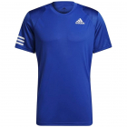Adidas Men's Club 3 Stripe Tennis Tee (Bold Blue/White) -