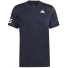 Adidas Men's Club 3 Stripe Tennis Tee (Legend Ink/White) -