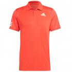 Adidas Men's Club 3 Stripe Tennis Polo Shirt (Vivid Red/White) -