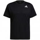 adidas Men's Freelift Short Sleeve Tennis Tee (Black/White) -