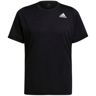 H50280 adidas Men's Freelift Short Sleeve Tennis Tee (Black/White)