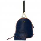 NiceAces Women's HANA 2-Racquet Handmade Vegan Tennis Backpack (Blue) -