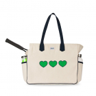 Ame & Lulu Love All Tennis Court Bag (Green Hearts) -