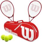 Wilson Pro Staff Precision XL Tennis Racquet Doubles Bundle w an Advantage II Tennis Bag and a Can of Tennis Balls -