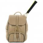 NiceAces Women's SARA Handmade Vegan Tennis Backpack (Beige) -