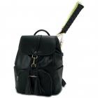 NiceAces Women's SARA Handmade Vegan Tennis Backpack (Black) -