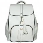 NiceAces Women's SARA Handmade Vegan Tennis Backpack (White) -