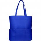 SportsChic Women's Vegan Maxi Tennis Tote Bag (Classic Blue) -