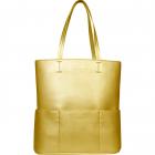SportsChic Women's Vegan Maxi Tennis Tote Bag (Gold) -