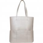 SportsChic Women's Vegan Maxi Tennis Tote Bag (Titanium) -