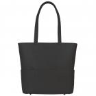 SportsChic Women's Vegan Midi Pickleball Tote Bag (Black) -