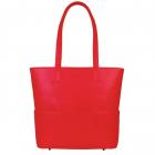 SportsChic Women's Vegan Midi Pickleball Tote Bag (Red) -