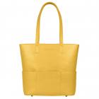 SportsChic Women's Vegan Midi Pickleball Tote Bag (Saffron Yellow) -