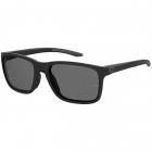 Under Armour Men's Rectangular Sunglasses (Matte Black/Polarized Gray) -