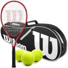 Wilson Pro Staff Precision XL 110 Tennis Racquet Bundled with an Advantage II Tennis Bag and a Can of Tennis Balls -