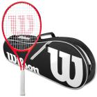 Wilson Roger Federer Junior Tennis Racquet bundled with an Advantage II Tennis Bag -