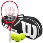 Wilson Roger Federer Junior Tennis Racquet bundled with an Advantage II Tennis Bag a Can of Tennis Balls -