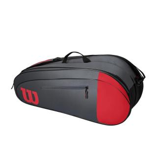 WR8009803001 Wilson Team 6 Pack Red Grey Tennis Bag