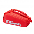Wilson Super Tour 6 Pack Tennis Bag (Red) -