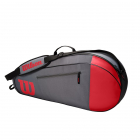 Wilson Team 3 Pack Tennis Bag (Red/Gray) -