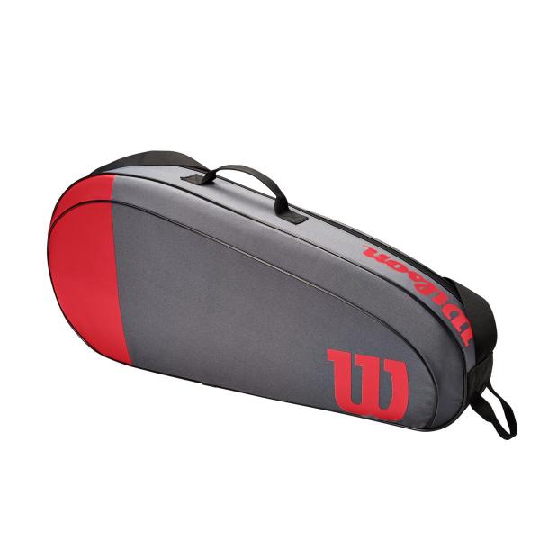 WR8011502001 Wilson Team 3 Pack Red Grey Tennis Bag