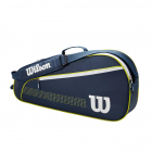 Wilson Junior 3 Pack Tennis Bag (Navy/White/Lime Green) -