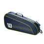 WR8012801001 Wilson Junior 3 Pack Navy White Lime Green Tennis Bag