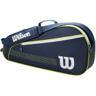 Wilson Junior 3 Pack Tennis Bag (Navy/White/Lime Green) -