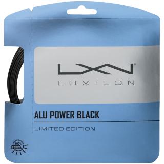 WR8306901 Luxilon ALU Power Black Tennis String Set Limited Edition