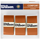 Wilson Roland Garros Pro Tennis Overgrip Red Clay 3 Pk -