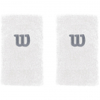 Wilson Extra Wide 'W' Tennis Wristband (White) -