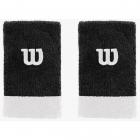 Wilson Extra Wide 'W' Tennis Wristband (Black/White) -