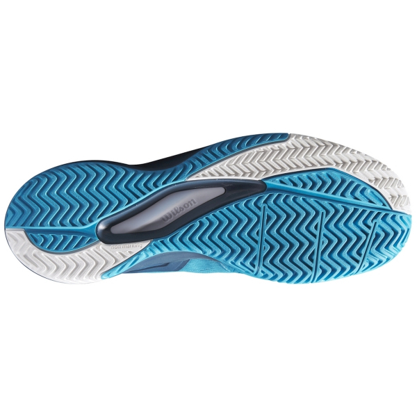 WRS327150 Wilson Men's Rush Pro 3.5 Tennis (Shoe Barrier Reef/Majolica Blue/White)