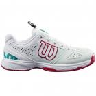 Wilson KAOS Junior QL Tennis Shoes (Soothing Sea/White/Sangria) -