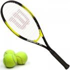 Wilson Energy XL Tennis Racquet Bundled with 3 Tennis Balls -