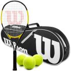 Wilson Energy XL Tennis Racquet Bundled with an Advantage II Tennis Bag and 3 Tennis Balls -