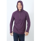 Bloq-UV Men's Hoodie (Blackberry) - Bloq-UV Tennis Apparel