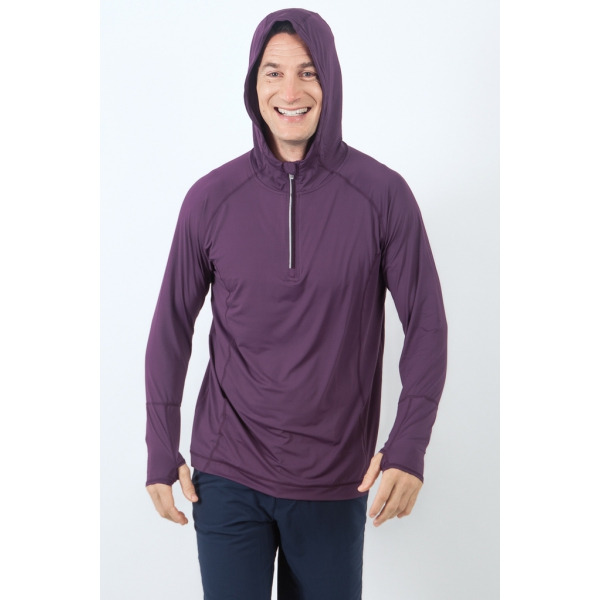 Bloq-UV Men's Hoodie (Blackberry)